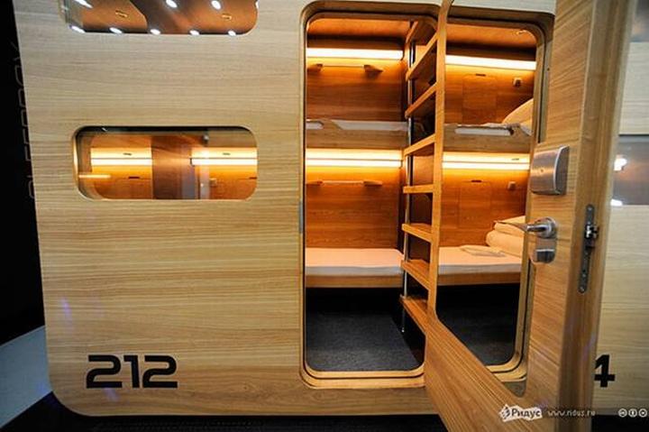 Capsule Hotel Moscow 187 Retail Design Blog