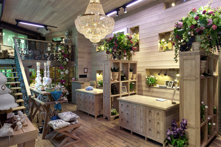 Fiori flower shop by studio belenko odessa kiev for Flower shop design layouts