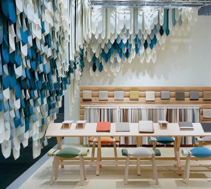 Kvadrat stand by raw edges design studio stockholm for I furniture home fair