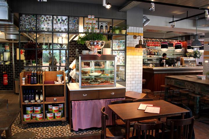 l osteria italian restaurant by dippold innenarchitektur gmbh munich. Black Bedroom Furniture Sets. Home Design Ideas