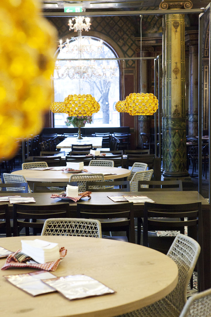 l osteria restaurant at k nstlerhaus by dippold innenarchitektur gmbh munich. Black Bedroom Furniture Sets. Home Design Ideas