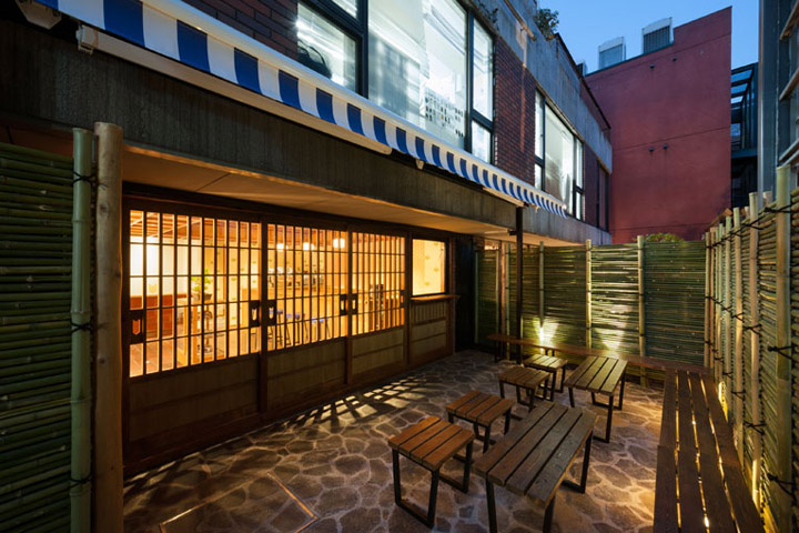 Maison kitsun caf kitsun by fhc tokyo retail design blog - Maison de tokyo paris ...