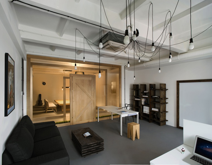 Pride and glory interactive head office by morpho studio for Grosse suspension design