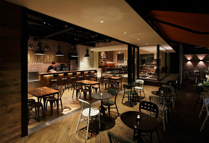 Shared terrace restaurant by moment design tokyo retail for The terrace menu