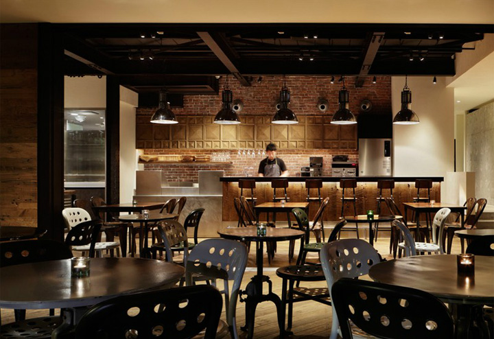 Shared terrace restaurant by moment design tokyo