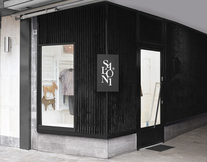 Salon1 interior branding by kiss mikl s bielefeld for Retail store exterior design