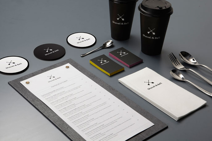 Shovel Bell identity by Manic Design Shovel & Bell identity by Manic Design