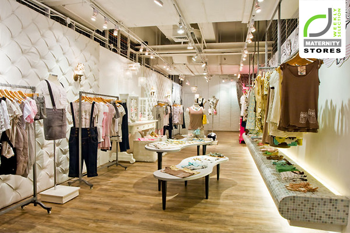 Maternity stores just g store for Fashion retail interior design