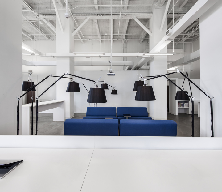 Interior Design Office Montreal: » BLUE Communication Office By Jean Guy Chabauty & Anne