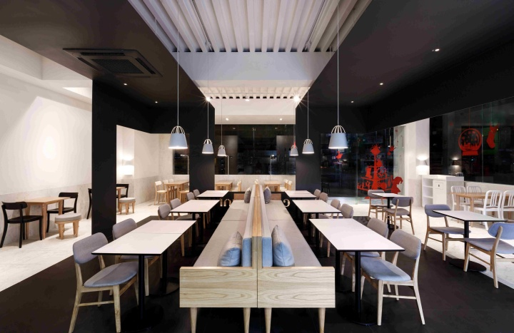 Coco bruni cafe by betwin space design seoul retail for Material design space