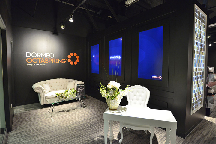 Dormeo showroom by inreality las vegas retail design blog for Z furniture outlet las vegas