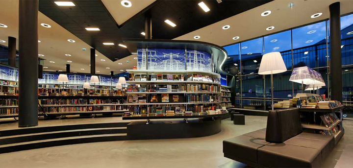 Nieuwe bibliotheek by concrete almere neteherlands retail design blog - Moderne bibliotheek ...