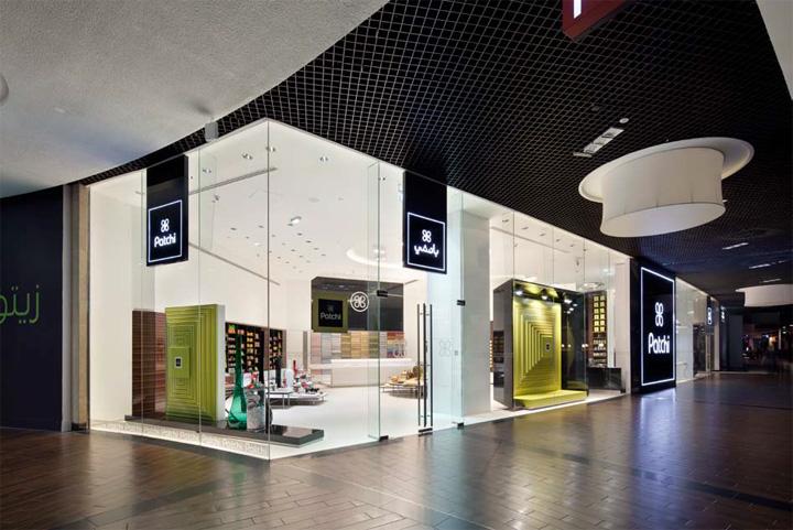 patchi store by lautrefabrique architectes dubai united arab emirates retail design blog. Black Bedroom Furniture Sets. Home Design Ideas