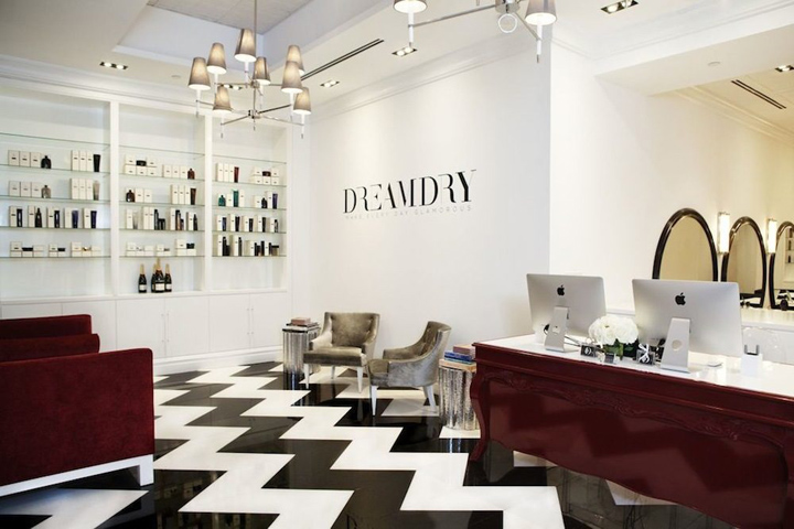 rachel zoe s dreamdry salon new york retail design blog. Black Bedroom Furniture Sets. Home Design Ideas