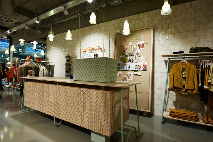 sandwich concept store essen germany retail design blog. Black Bedroom Furniture Sets. Home Design Ideas