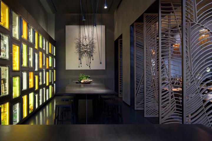 Taizu restaurant by pitsou kedem architects tel aviv retail design blog - Revetement mural bambou ...