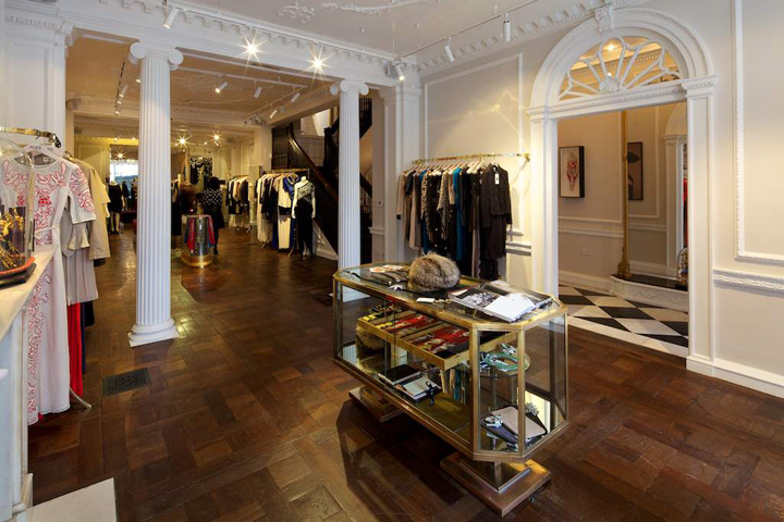 Temperley london flagship store by found associates Boutiques deco