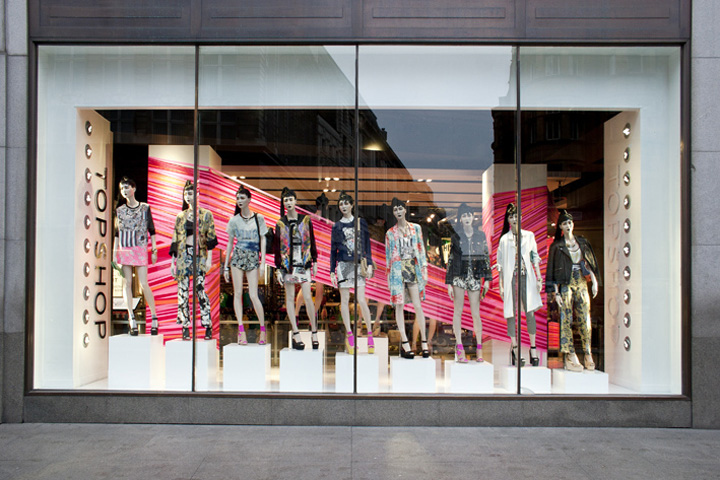 Topshop tape windows by studioXAG, London » Retail Design Blog