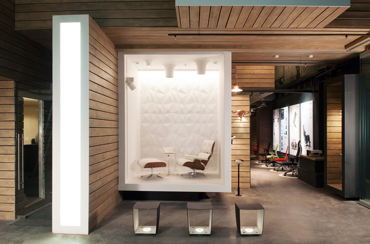 Dk office showroom by megabudka moscow showroom store design office