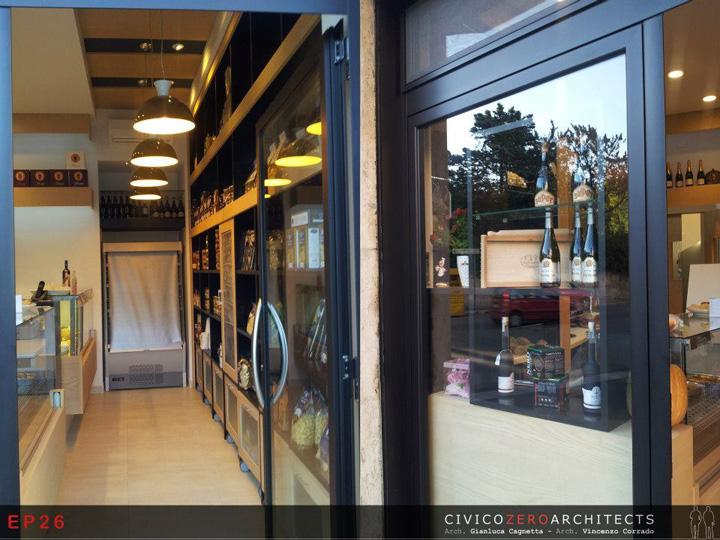 Groceries enogastronomia da elena store by civico zero architects bari italy - Interior design bari ...