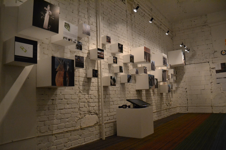 Exhibition installation by trafik k r budapest hungary retail design blog - Small space design blog gallery ...