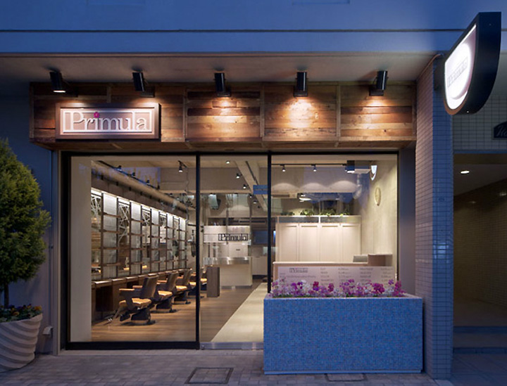 Primula hair salon by inly design naruo japan retail - Vitrine salon de coiffure ...