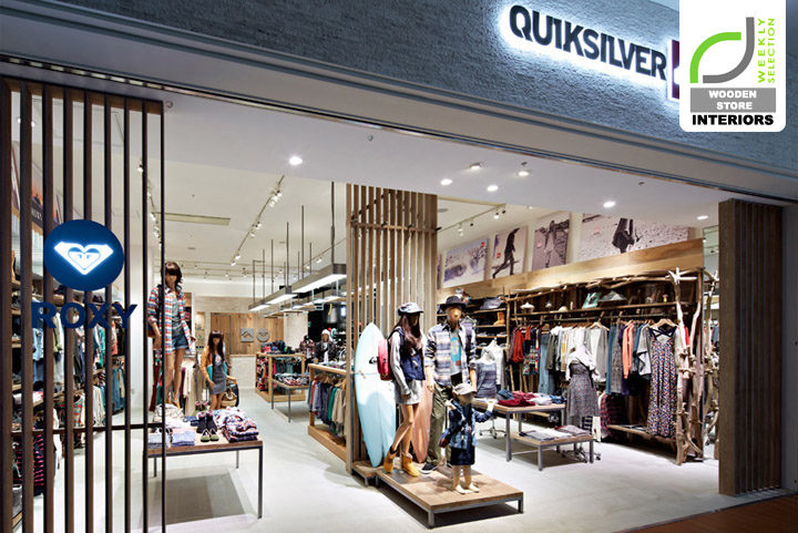 WOODEN STORE INTERIORS! Quicksilver store by Specialnormal