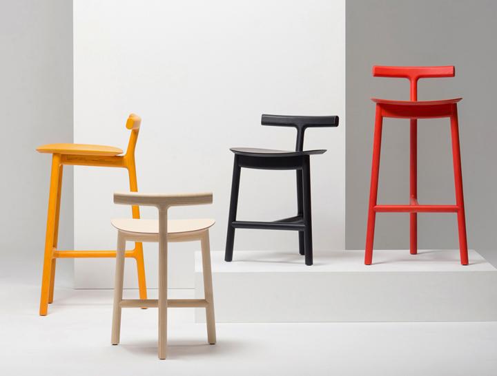 Radice stool by industrial facility for mattiazzi