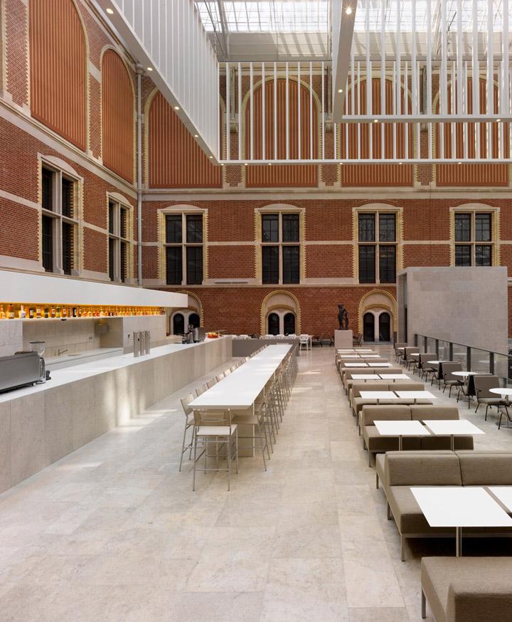Rijksmuseum restaurant caf by studio linse amsterdam Interior design shops amsterdam
