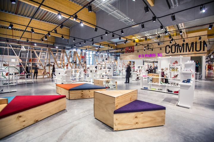 Upside fashion store by atelier m g herstal retail for Interior design department