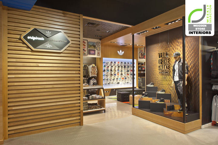 wooden store interiors adidas originals shop in shop at footaction