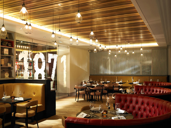 1871 bar restaurant by designlsm leeds uk retail for Restaurant design