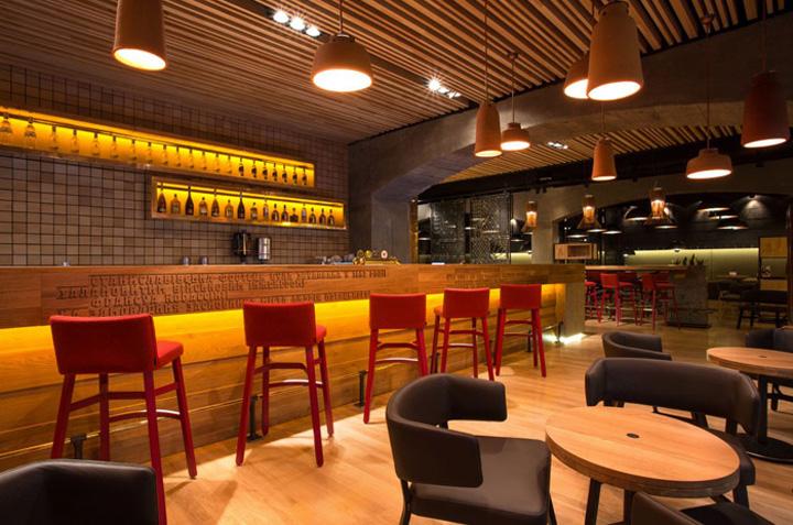 Corassini grill wine restaurant by yod design lab ivano