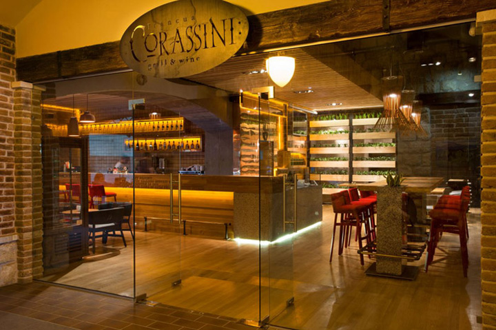 Restaurant Design Lab : Corassini grill wine restaurant by yod design lab ivano