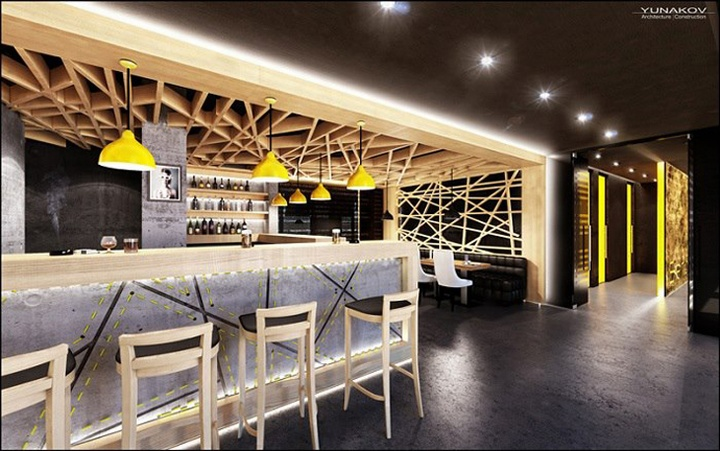 Concrete bar restaurant by yunakov studio kiev ukraine - Bar cuisine studio ...