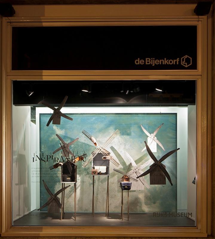 【橱窗设计】de bijenkorf x rijksmuseum 橱窗/荷兰