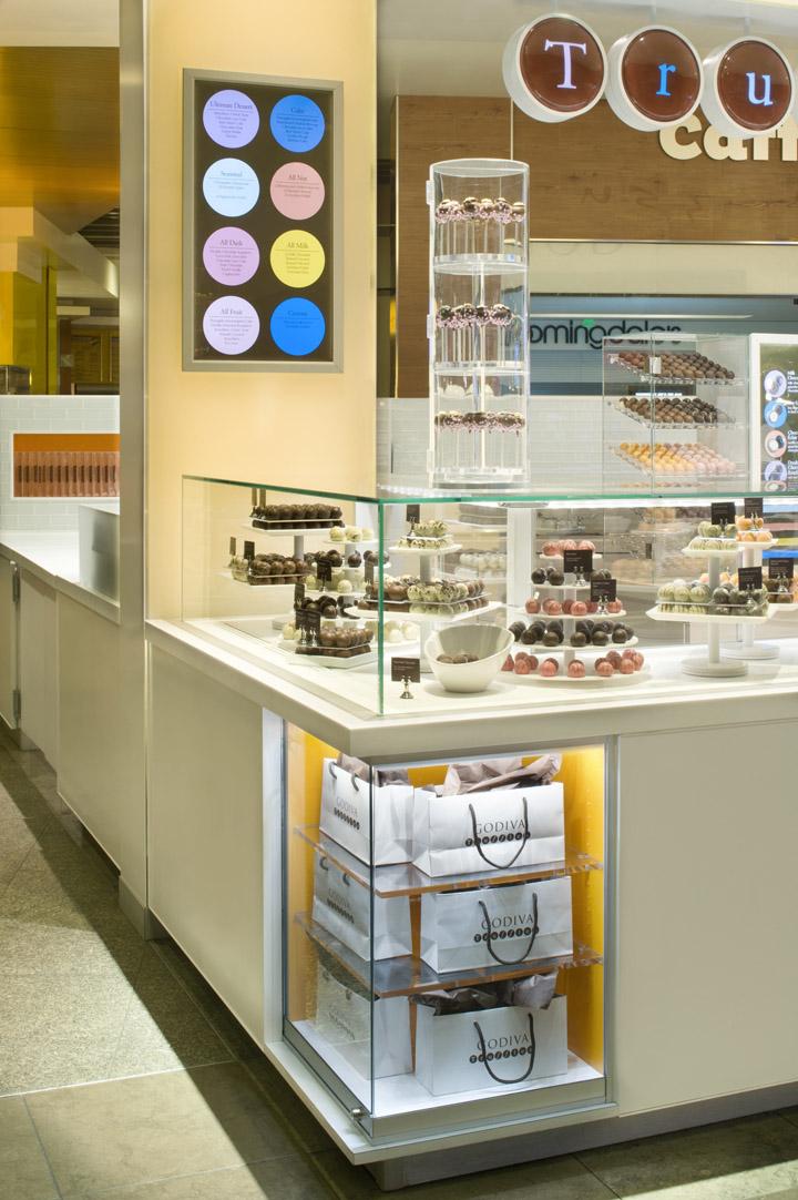 We. Godiva kisok by dash design  New York   Retail Design Blog