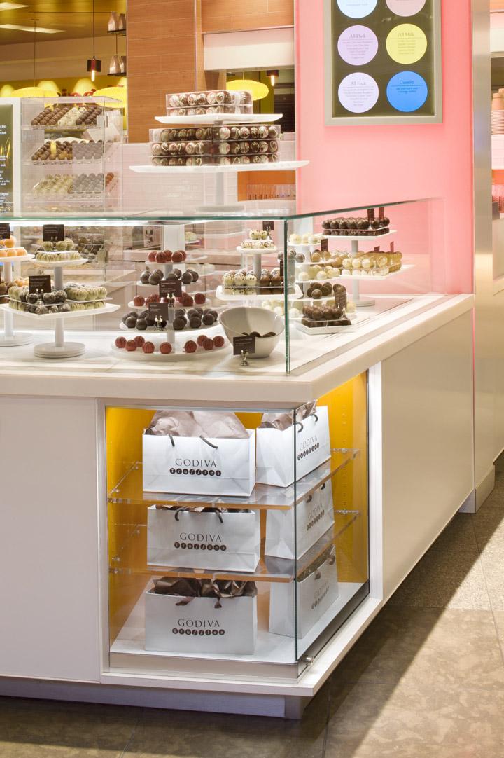 The. Godiva kisok by dash design  New York   Retail Design Blog