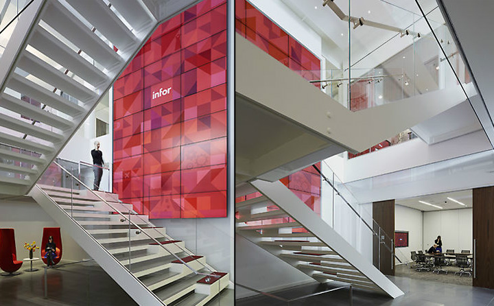 Infor global solutions office by voa associates new york for Retail design companies london