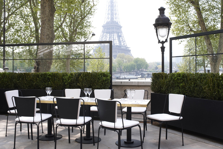 monsieur bleu restaurant by joseph dirand paris retail. Black Bedroom Furniture Sets. Home Design Ideas