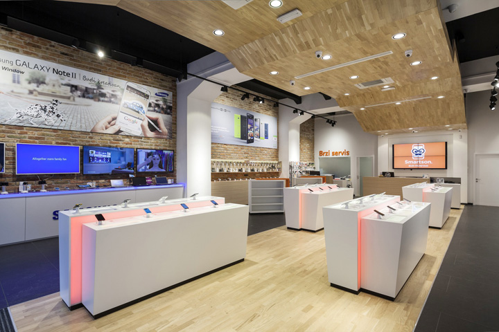Smartphone concept store by brigada for Mobel onlineshop design