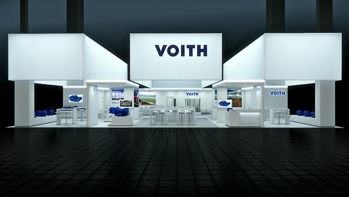 Exhibition Booth Design Germany : Voith booth by björn radler at iaa frankfurt germany