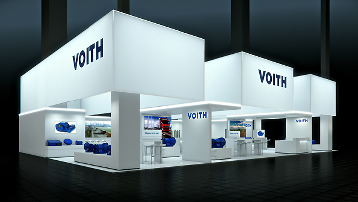 GREATEST EXHIBIT  PROJECTS VOITH booth by Bjorn Radler at IAA Frankfurt Germany