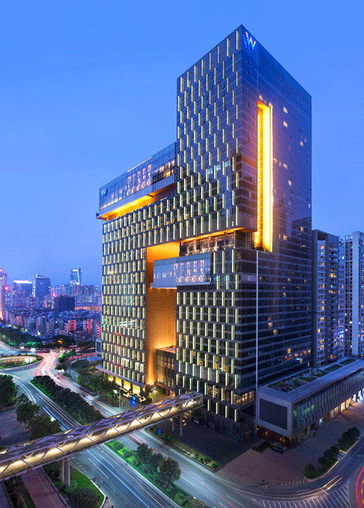 W hotel by rocco design architects guangzhou china for City hotel design