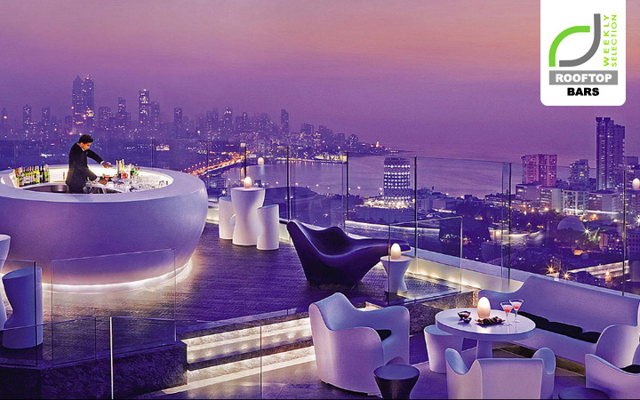 ROOFTOP BARS ROOFTOP BARS  - Luxury Hotels & Resorts Aer bar and lounge at Four Seasons Hotel Mumbai