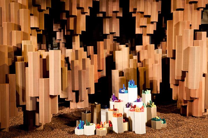 Corrugated Cardboard Pavilion by Miguel Arraiz Garcia David Moreno Terron Valencia Spain 02 Corrugated Cardboard Pavilion by Miguel Arraiz García & David Moreno Terrón, Valencia   Spain