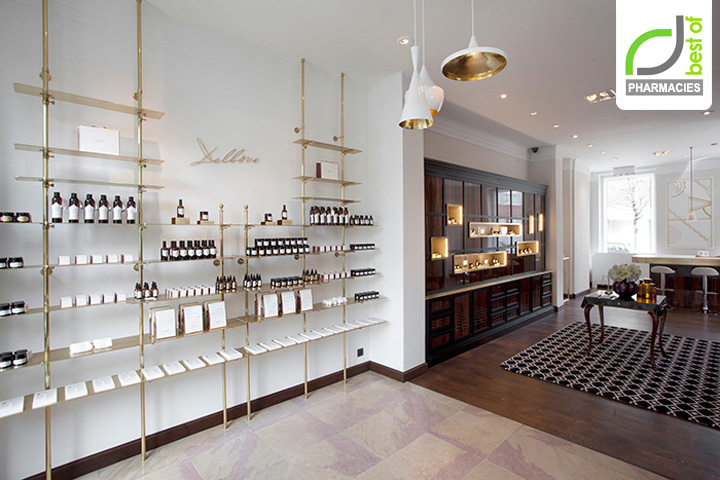 PHARMACIES! Delbôve flagship boutique by Christophe Remy, Brussels