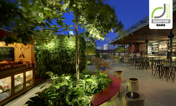 ROOFTOP BARS ROOFTOP BARS  - Luxury Hotels & Resorts Loof bar at Odeon Towers Singapore