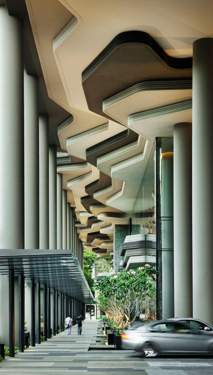 Parkroyal hotel singapore for Hotel designer