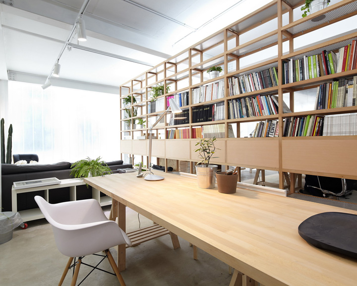 studio architecture tao lei taoa beijing office space interior building open room reception spaces wood modern google courtesy area